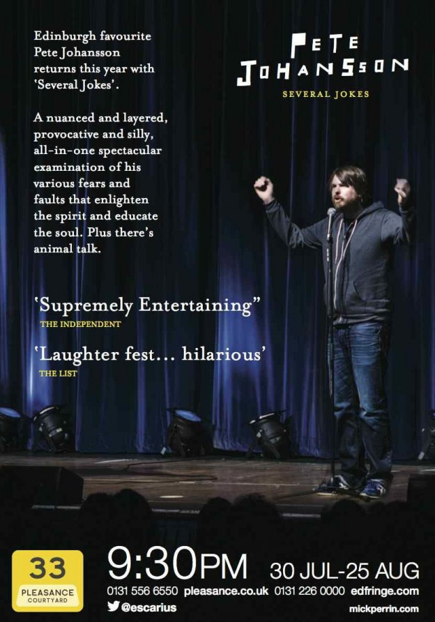 2014 Edinburgh Show, Several Jokes. And Fall Tour.